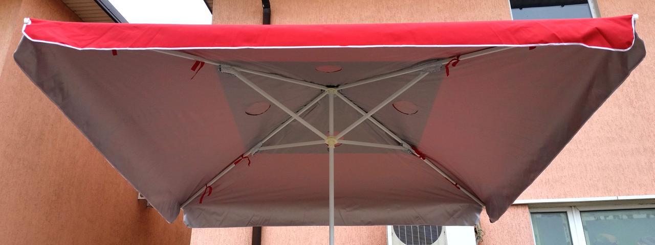 Зонт садовый, торговый, квадратный, с клапаном и напылением, 2 х 2, мод-013W