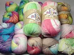 Пряжа для в'язання Bella batik Alize (бавовна 100%)