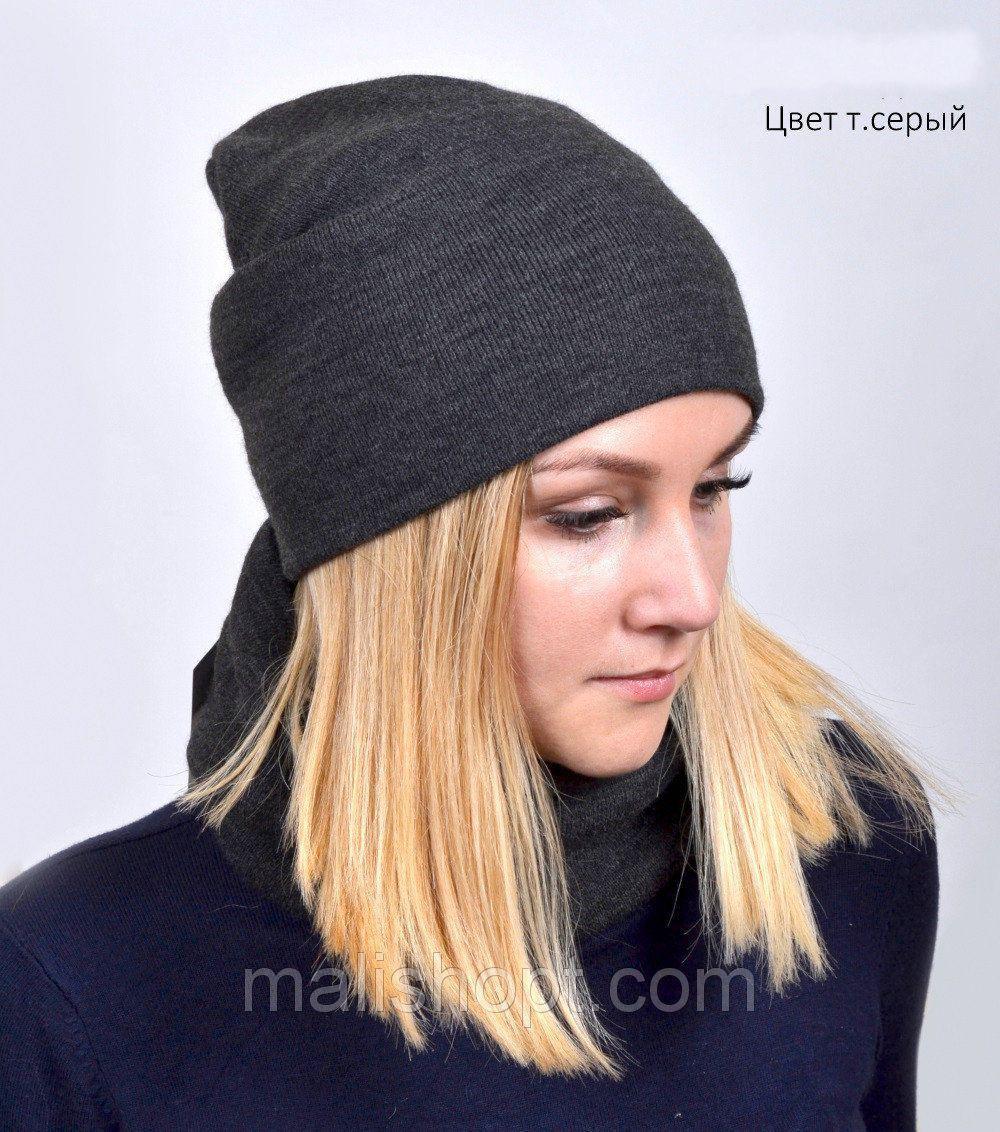 Модная вязаная шапка для подростков девушек(образец)