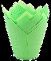 Форма бумажная Тюльпан зеленая, 200 шт
