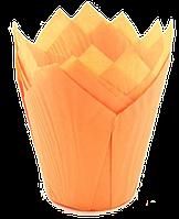 Форма бумажная Тюльпан оранжевая