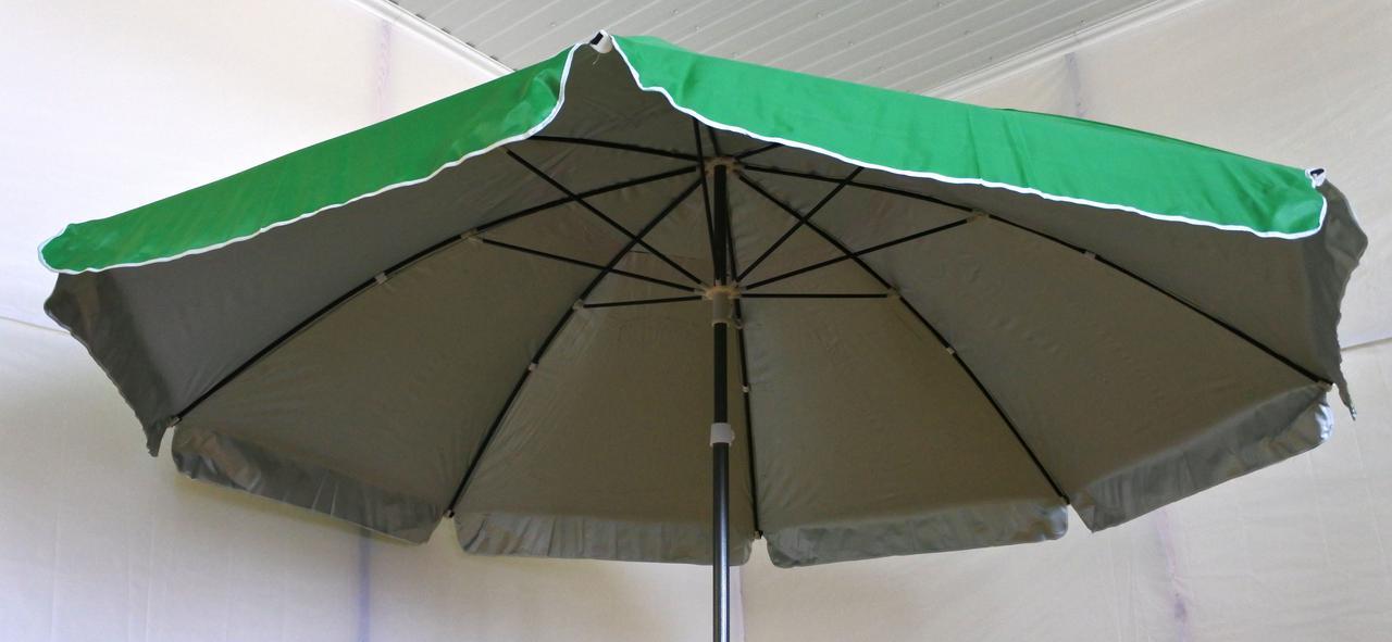 Зонт садовый, торговый, круглый, с клапаном и напылением, 3 м, мод-011F