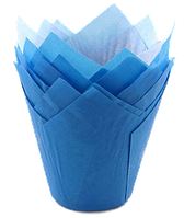 Форма бумажная Тюльпан синяя