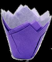 Форма бумажная Тюльпан фиолетовая