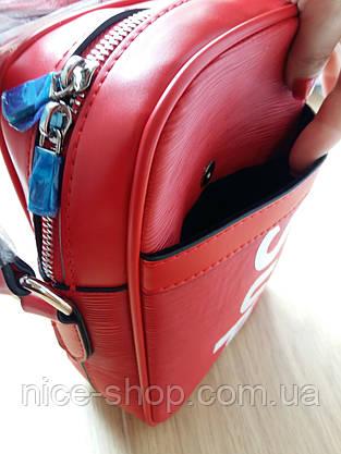 Сумка Louis Vuitton Supreme кросс-боди красная, фото 2