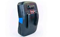 Макивара  кожаная (1шт) TWINS KPL-4-BK-BU (черный-синий)
