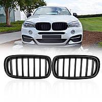 PairMatteBlackABSАвтоПередняя решетка для почек для BMW F15 F16 X5 X6 2013-2017