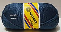 Акриловая пряжа для вязания Flora Kartopu № К650- джинс
