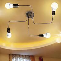 E27 4Heads Винтаж Промышленная люстра Кулон Стойка для потолочного крепления потолочного светильника Лампа AC110-240V