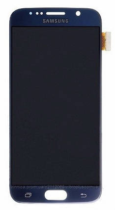 Дисплей (экран) Samsung G920F Galaxy S6 with touch screen (с тачскрином в сборе) ORIG, blue (синий), фото 2