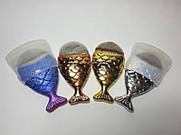 Кисть для макияжа рыбка/русалка/ракушка