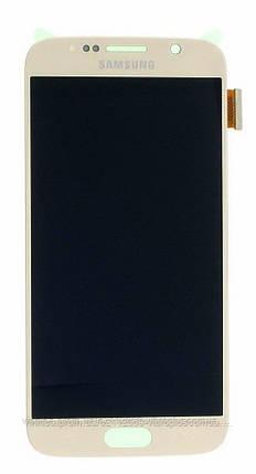 Дисплей (экран) Samsung G920F Galaxy S6 with touch screen (с тачскрином в сборе) ORIG, gold (золотистый), фото 2