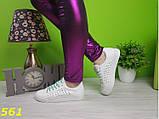 Кеды белые 36,37 размеры  с перфорацией сквозной дышащие К561, фото 2