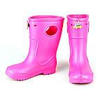 Розовые сапоги на дождь из пены ЭВА, р.22-32. Резиновые сапоги., фото 10