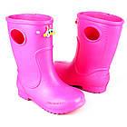 Розовые сапоги на дождь из пены ЭВА, р.22-32. Резиновые сапоги., фото 9
