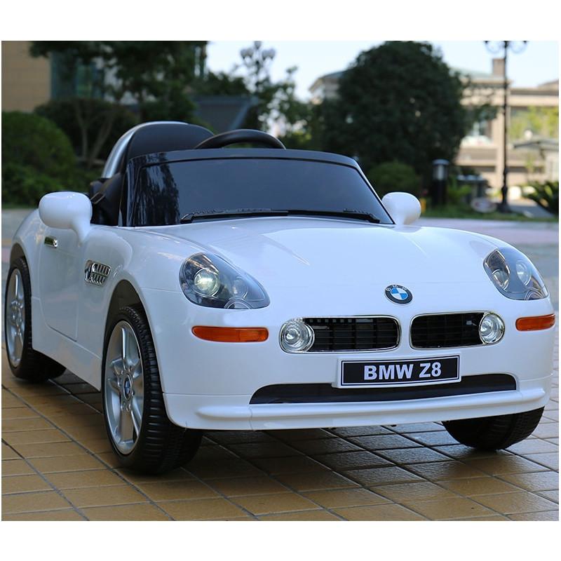 Детский электромобиль BMW Z8 JJ1288 EBLR-1: 70W, 2.4G, EVA, кожа - БЕЛЫЙ - купить оптом