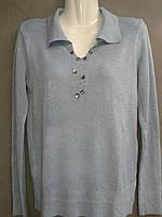 Пуловер женский из кашемира светло-серого цвета