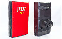 Макивара для отработки ударов из PVC (1шт) ELAST ME-0300 (поддержка для рук, р-р 60x35,5x13см, красно-чёрная)
