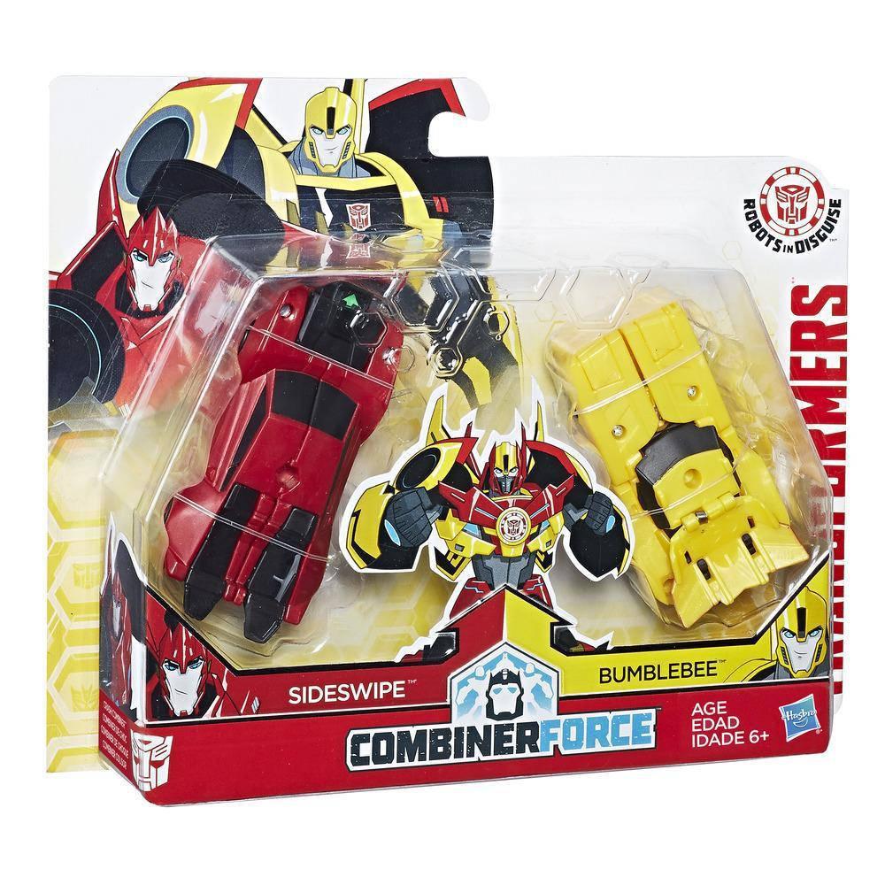 Трансформеры Бамблби и Сайдсвайп, Роботы под прикрытием - Bumblebee & Sideswipe, Combiner Force, Hasbro