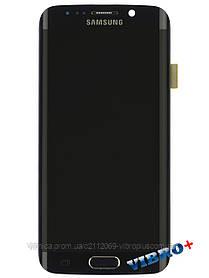 Дисплей (экран) Samsung G925F Galaxy S6 Edge with touch and frame (с тачскрином и рамкой) ORIG, black (черный)