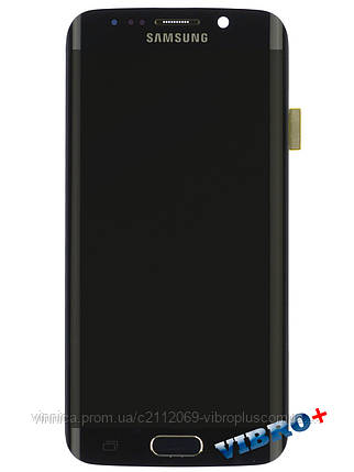 Дисплей (экран) Samsung G925F Galaxy S6 Edge with touch and frame (с тачскрином и рамкой) ORIG, black (черный), фото 2