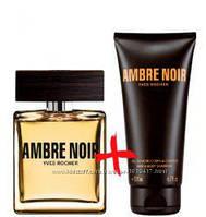 AMBRE NOIR ЧЕРНАЯ АМБРА ив роше набор одеколон вода 50мл+гель шампунь парфюмированный 200мл Yves Roche мужской