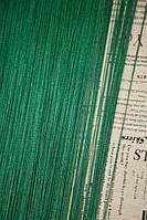 Шторы нитяные LUX однотонные темно-зеленые  (211)