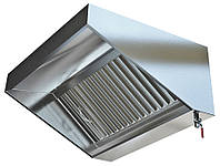 Зонт вытяжной нерж.сталь с жироулавливающим фильтром 1500*700