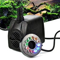 RGBY 12 LED Night Light Погружная вода Насос для Аквариум KOI Fish Pond Fountain AC220V