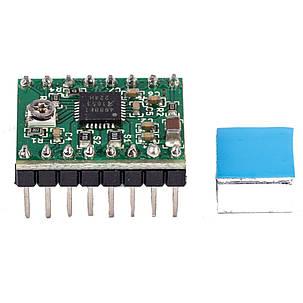 FLSUN® 2PCS A4988 Reprap Stepper Мотор Модуль драйвера с радиатором для 3D-принтера, фото 2