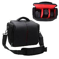 Универсальный портативный Водонепроницаемы DSLR камера Плечо Сумка Чехол Nylon для Nikon для Canon для Sony