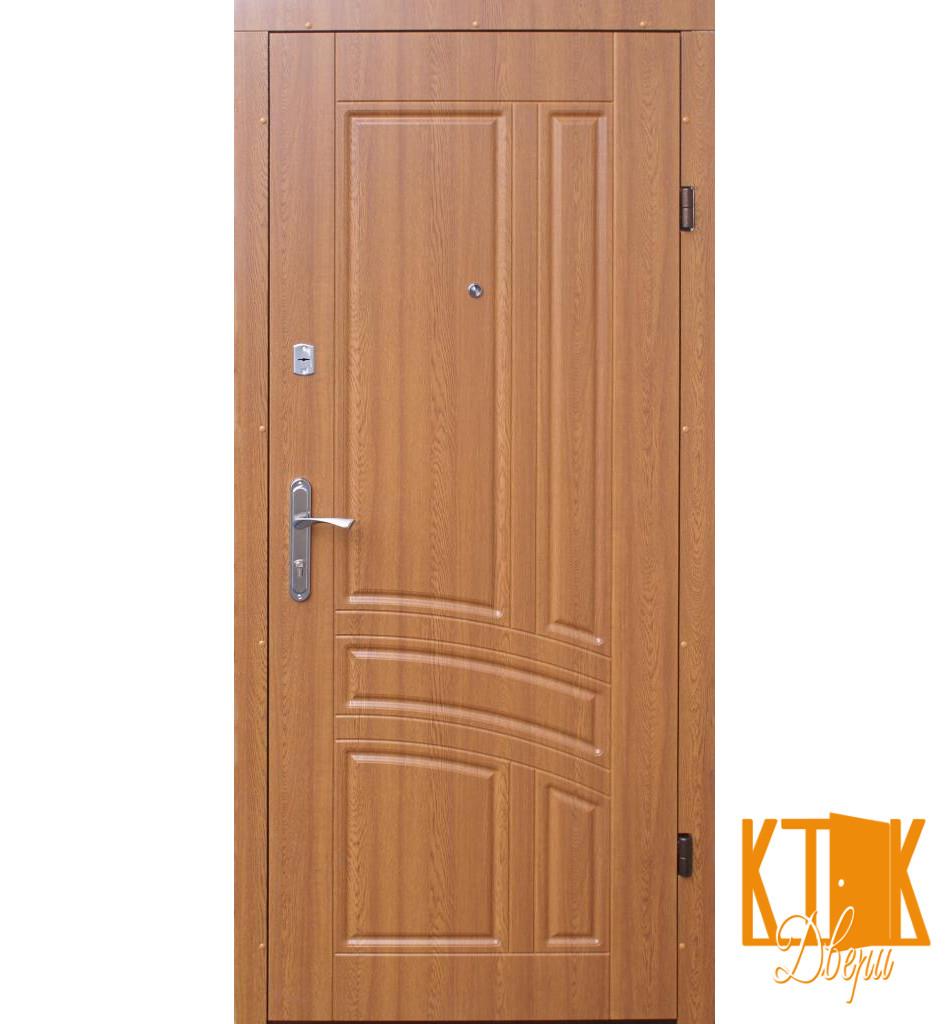 """Вхідні двері в квартиру Сіріус серії """"Економ"""" (золотий дуб)"""