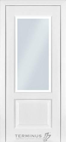 Модель 04/Стекло №23 матированное/Ясень белый емаль