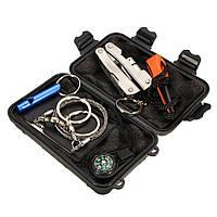6 в 1 Экстренное выживание оборудование Набор На открытом воздухе Спорт Тактический туризм Кемпинг Инструмент Set