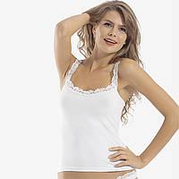 Майка женская белая, оптом, фирмы Oztas. DO17912670