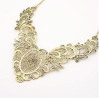Модный роскошный резной воротник ожерелье, ювелирное изделие, цвет - бронза
