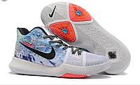 Баскетбольные мужские кроссовки Nike Kyrie 3 EFFECT MULTI COLOR/white-black from Kyrie Irving реплика