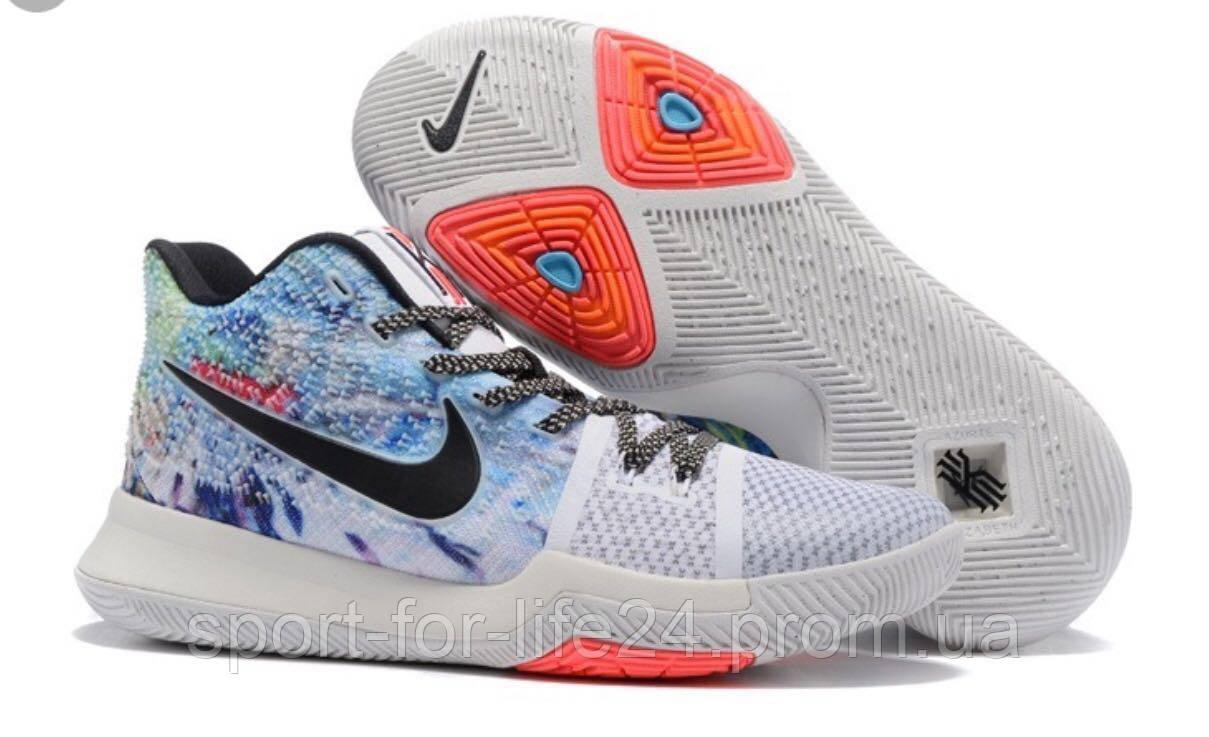 Баскетбольные мужские кроссовки Nike Kyrie 3 EFFECT MULTI COLOR white-black  from Kyrie Irving 16a46eb02f6