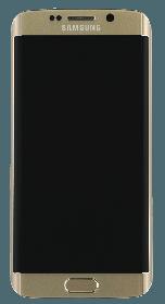 Дисплей (экран) Samsung G925F Galaxy S6 Edge with touch and frame (с тачскрином и рамкой) ORIG, gold (золото)