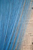 Шторы нити однотонные LUX Голубой (11)