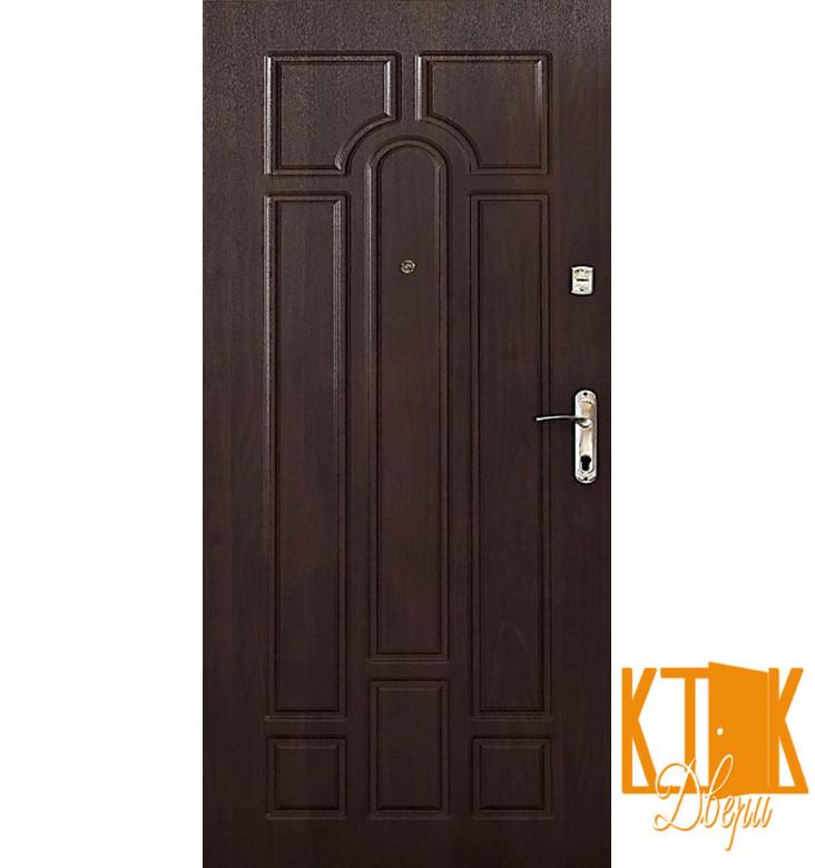 """Входные двери в квартиру Классик серии """"Эконом МДФ"""" (тёмный орех)"""