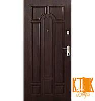 """Входные двери в квартиру Классик серии """"Эконом"""" (тёмный орех)"""