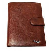 Бумажник мужской Water Lily 6822 D коричневый натуральная кожа монетница внутри прозрачные отделения 15 х 10см