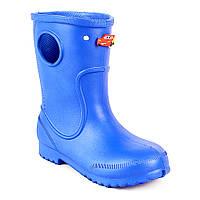 Синие сапоги на дождь из пены ЭВА, р. 20-34. Резиновые сапоги