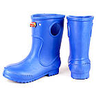 Синие сапоги на дождь из пены ЭВА, р. 20-34. Резиновые сапоги, фото 2