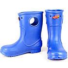 Синие сапоги на дождь из пены ЭВА, р. 20-34. Резиновые сапоги, фото 4