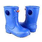 Синие сапоги на дождь из пены ЭВА, р. 20-34. Резиновые сапоги, фото 3
