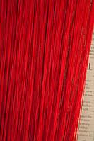 Шторы нитяные LUX однотонные Красный 17
