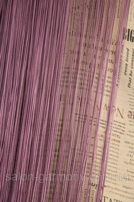Нитяні штори LUX однотонні Сливовий (18)