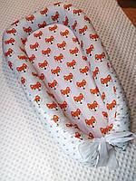 Гнездышко кокон babynest позиционер для новорожденного личички